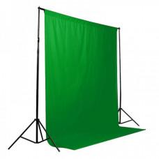 Фотофон тканевой зеленый Хромакей(chromakey) 2,7*5,0